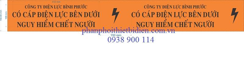 Băng cảnh báo cáp ngầm điện lực Bình Phước